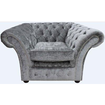 Designer Sofas 4 U - Gosford Buttoned Studded Chair Velvet Modena Smoke