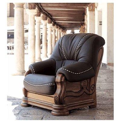 Gredos Armchair Italian Leather Sofa Tabaco Brown - DESIGNER SOFAS 4 U