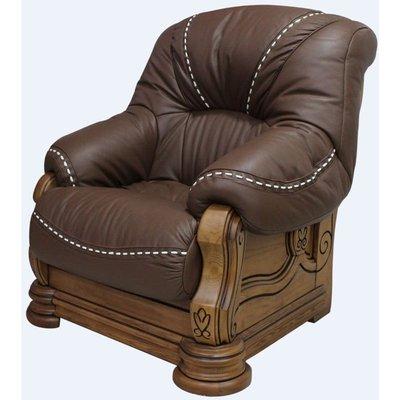 Gredos Italian Leather Armchair Tabaco Brown - DESIGNER SOFAS 4 U