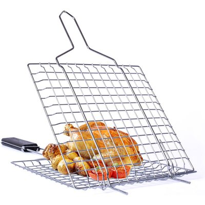 Grilling Basket Non-Stick Barbecue Basket Heavy Duty BBQ Tools Grill Basket
