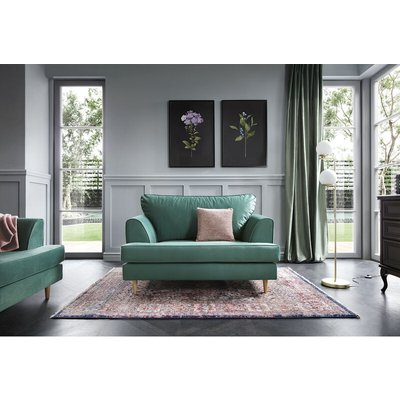 Harper Cuddle Chair - color Forest Green - ABAKUS DIRECT