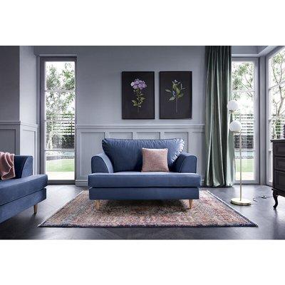 Harper Cuddle Chair - color Oxford Blue