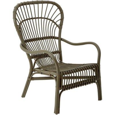 Havana relax chair, rattan, grey colour - BIG LIVING