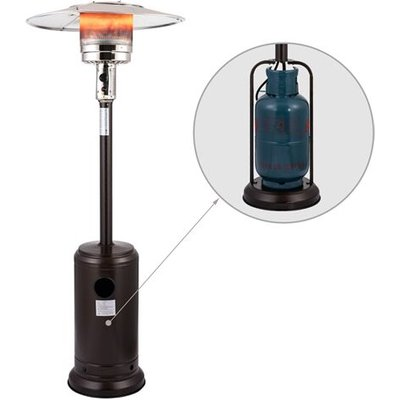 HEATSURE Outdoor Gas Patio Heater Bronze Powder Coated Hammered Metal 5KW - 12KW