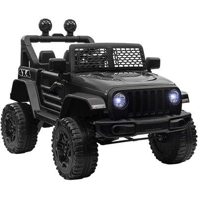 12V Battery-Powered Kids Electric Ride On Car Truck 3-6 Yrs Black - Homcom
