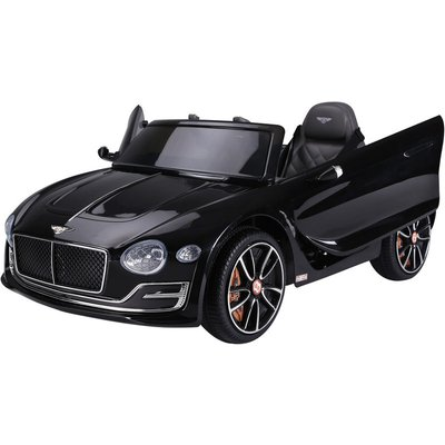 12V Kids Electric Ride-On Car w/ LED Lights Music Remote Control Black - Homcom