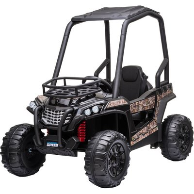 HOMCOM 12V Kids Ride On Off-Road UTV Car Outdoor Vehicle 3-8 Yrs Black