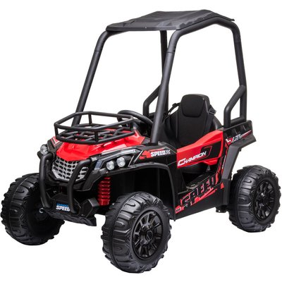 12V Kids Ride On Off-Road UTV Car Outdoor Vehicle 3-8 Yrs Red - Homcom