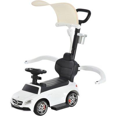 3 in 1 Ride on Push Car for Toddlers Stroller Sliding Car Toy 1-3 Yrs White - Homcom