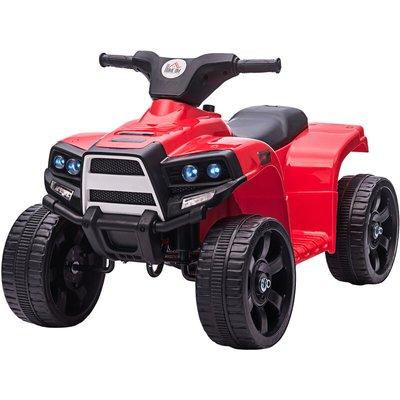 6V Kids Electric Ride-On Quadbike Car Electric Toy 18-36 Months Black Red - Homcom