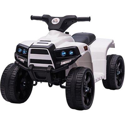 6V Kids Electric Ride-On Quadbike Car Electric Toy 18-36 Months Black White - Homcom