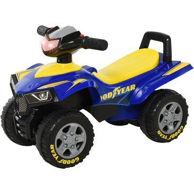 Baby Walker Ride on Car for Toddlers Quad Sliding Car w/ Horn Music - Homcom