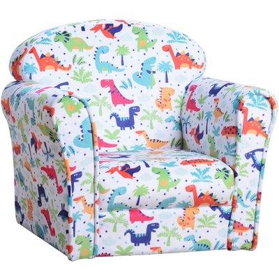 Colourful Dinosaur Children's Kids Armchair Flannel Chair Seat Cartoon - Homcom