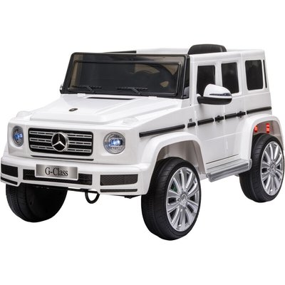 HOMCOM Kids 12V Mercedes Benz G500 Electric Ride On Car 3-8 Yrs White