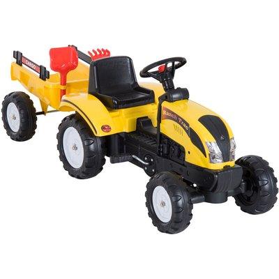 Pedal Go Kart Ride on Tractor w/ Shovel & Rake Four Wheels Child Toy - Homcom