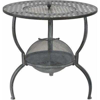 Charcoal BBQ Grill Antique Grey 70x67 cm QAH29572 - Hommoo