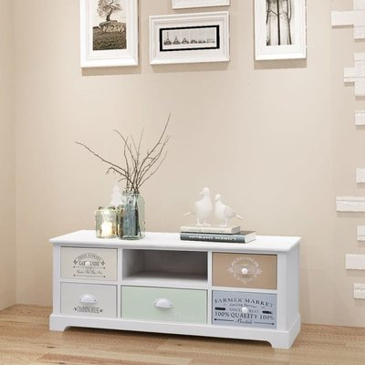 Hommoo French TV Cabinet Wood VD09493