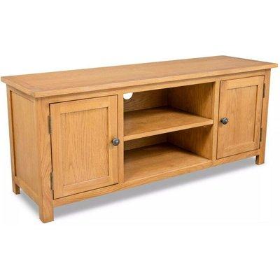 TV Cabinet 120x35x48 cm Solid Oak Wood VD10570 - Hommoo