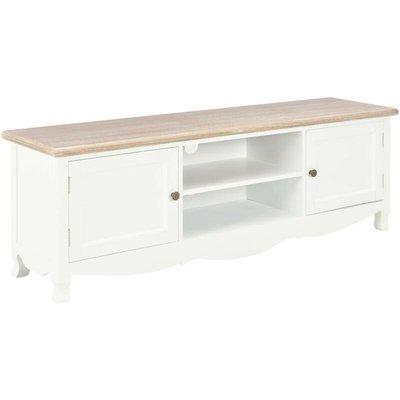Hommoo TV Cabinet White 120x30x40 cm Wood VD14683