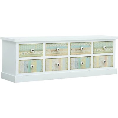 Hommoo TV Cabinet with Drawers White 120x30x40 cm MDF VD25924