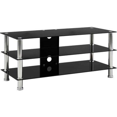 TV Stand Black 90x40x40 cm Tempered Glass VD22245 - Hommoo