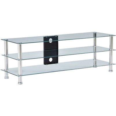 TV Stand Transparent 120x40x40 cm Tempered Glass VD22247 - Hommoo