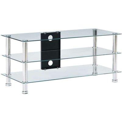 TV Stand Transparent 90x40x40 cm Tempered Glass VD22248 - Hommoo