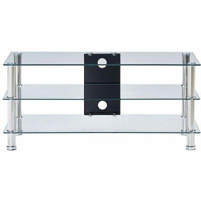 TV Stand Transparent 90x40x40 cm Tempered Glass QAH22248 - Hommoo