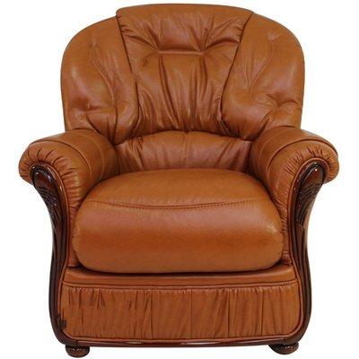Indiana Genuine Italian Sofa Armchair Tan Leather - DESIGNER SOFAS 4 U