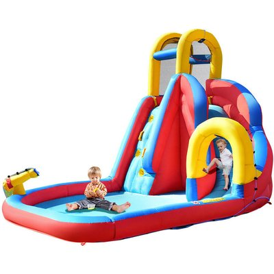 Costway - Inflatable Water Slide Kids Bouncy Castle Play House Bounce Jumping Type 2
