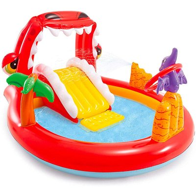 57163 Happy Dino Play Center Inflatable Pool for Children - Intex