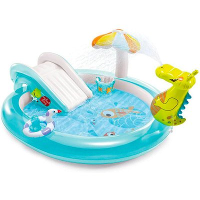Intex 57165 Gator Play Center Inflatable Swimming Pool Children Game