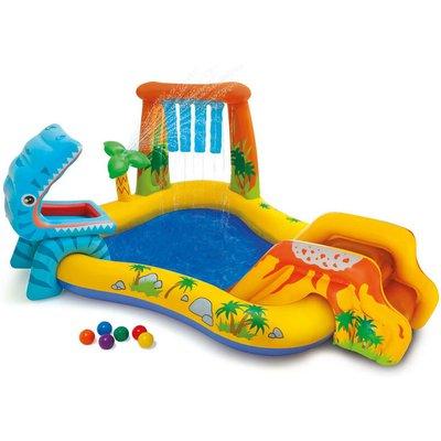Intex Inflatable Pool Dinosaur Play Center 249x191x109 cm 57444NP - Multicolour