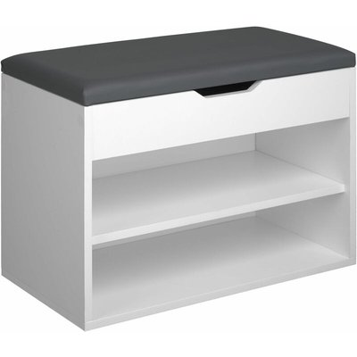 Jasmina Shoe Storage Bench - bianco
