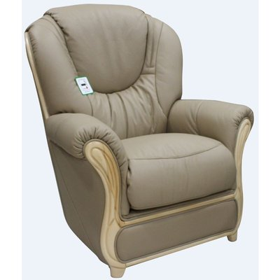 Designer Sofas 4 U - Juliet Genuine Italian Sofa Armchair Coffee Milk Leather