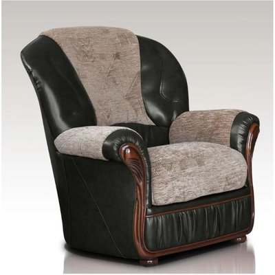 Designer Sofas 4 U - Kansas Armchair Genuine Italian Leather Fabric Sofa Offer
