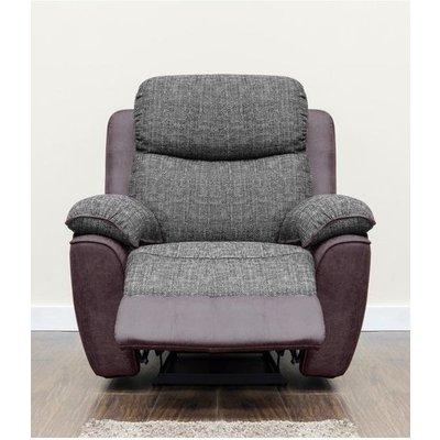 Kansas Armchair Reclining Fabric Sofa Brown