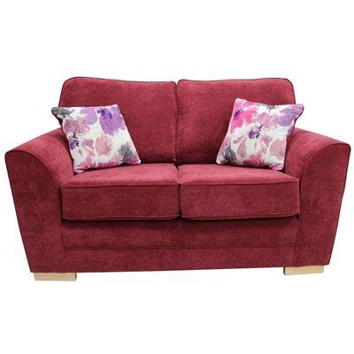 Designer Sofas 4 U - Keira 2 Seater Sofa Bordeaux Fabric