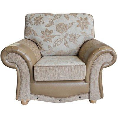 Designer Sofas 4 U - Kelly Fabric Armchair Cairo Fawn