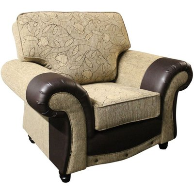 Designer Sofas 4 U - Kelly Fabric Armchair Ramini And Milan Coffee