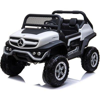 Kids Electric Ride On UniMog White - Mercedes-benz