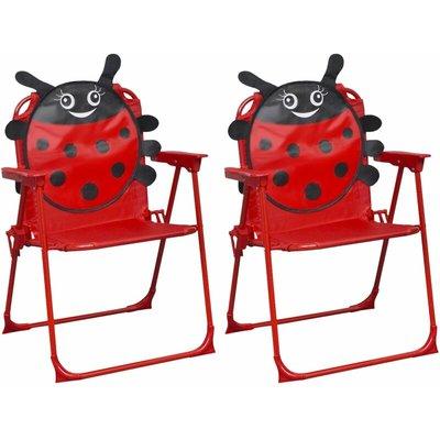 Kids' Garden Chairs 2 pcs Red Fabric - VIDAXL
