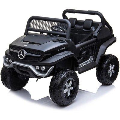 Kids Ride On UniMog - 12V Black - Mercedes-benz