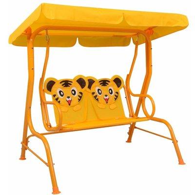 Kids Swing Bench Yellow 115x75x110 cm Fabric - VIDAXL