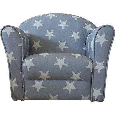 Mini Armchair Grey White stars - Kidsaw