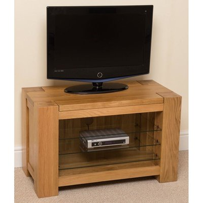 Modern Furniture Direct - Kuba Solid Oak TV/DVD/HIFI Stand, TV units (90 x 45 x 56 cm)