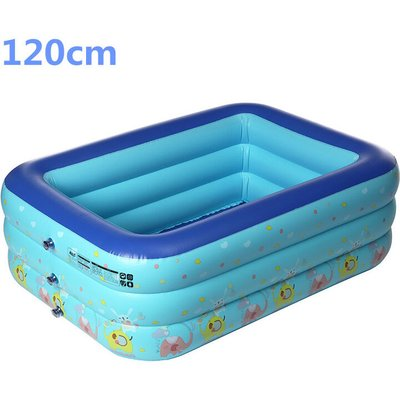 Large inflatable swimming pool for children 120cm - AUGIENB