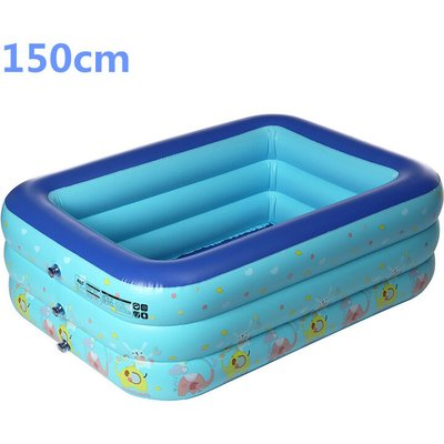 Augienb - Large inflatable swimming pool for children 150cm