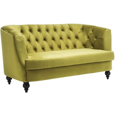 Lime Green Velvet 2 Seater Sofa - ACACIA HOME