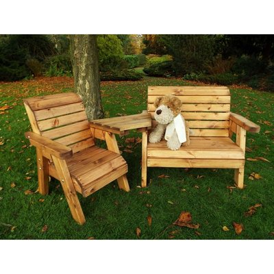 Little Fellas Bench/Chair Combination Set (Angled), wooden garden furniture for children, fully assembled - CHARLES TAYLOR